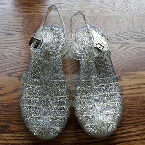 Wild Diva Sparkly Jellies Sandals